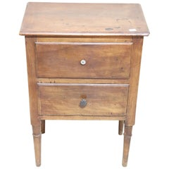 18th Century Italian Antique Louis XVI Walnut Wood Nightstand