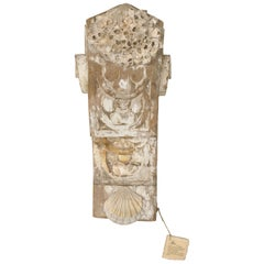 18th Century Italian Architectural Pediment with Barnacled Chesapecten Shells
