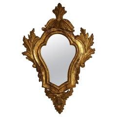 18th Century Italian Baroque Giltwood Mirror