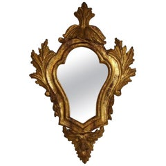 18th Century Italian Baroque Giltwood Mirror