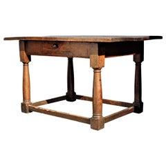 18th Century Italian Baroque Walnut Table