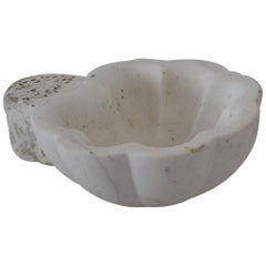18th Century Italian Baroque White Marble Holy Water Font or Stoup