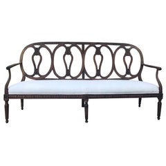 18th Century Italian Bench with Carved Back