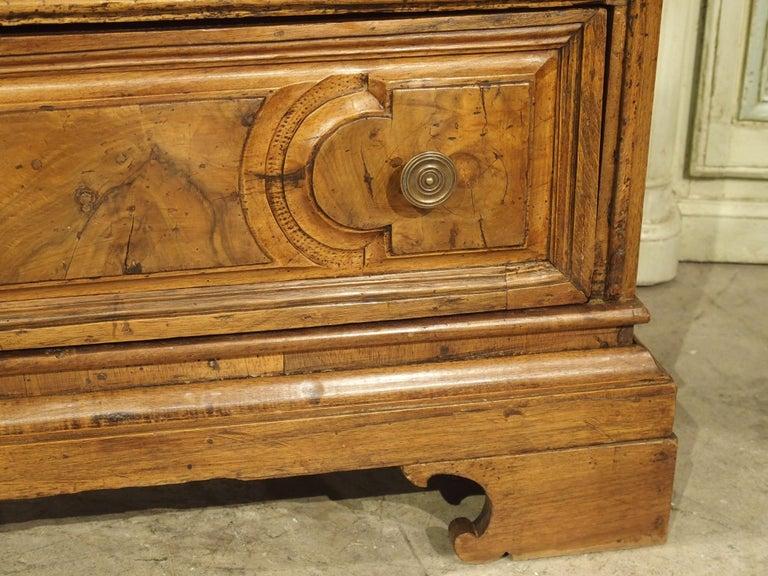 Bronze 18th Century Italian Burl Walnut Chest of Drawers For Sale