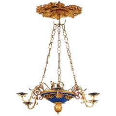 18th Century Italian Carved and Gilt Wood Chandelier