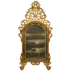 18th Century, Italian Carved and Giltwood Mirror