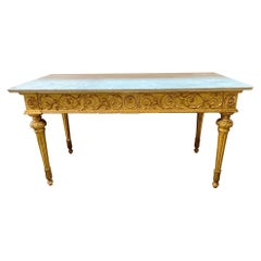 18th Century Italian Carved and Giltwood Console