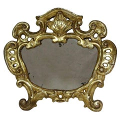 18th Century, Italian Carved Giltwood Baroque Mirror