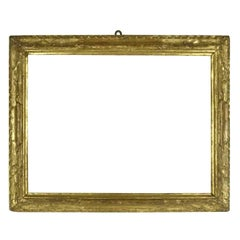 18th Century Italian Carved Giltwood Frame