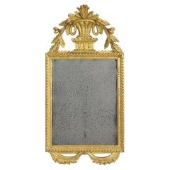 18th Century, Italian Carved Giltwood Louis XVI Style Mirror