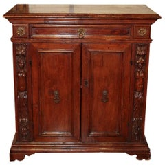 18th Century Italian Carved Walnut Buffet
