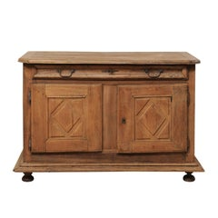 18th Century Italian Carved Walnut Wood Buffet Credenza