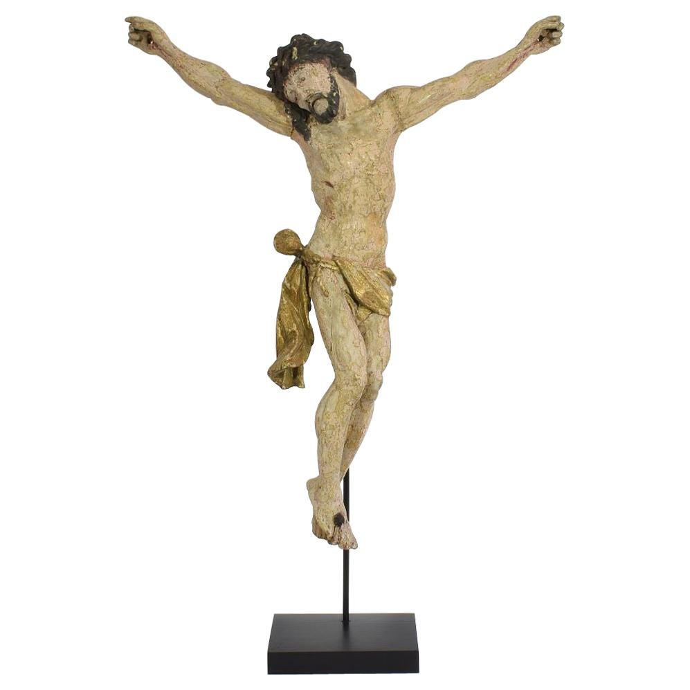 18th Century, Italian Carved Wooden Christ