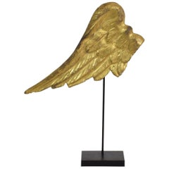 18th Century, Italian Carved Wooden Wing of a Baroque Angel