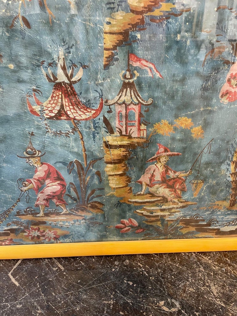 Hand-Painted 18th Century Italian Chinoiserie Scene Painted Panel For Sale
