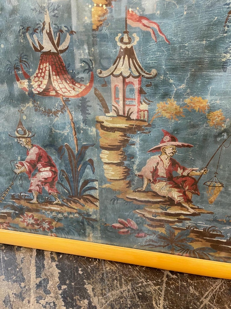 18th Century Italian Chinoiserie Scene Painted Panel In Good Condition For Sale In Dallas, TX