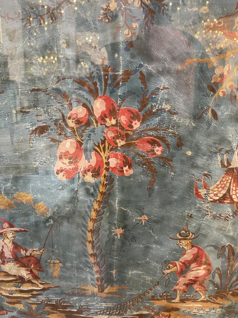 18th Century and Earlier 18th Century Italian Chinoiserie Scene Painted Panel For Sale