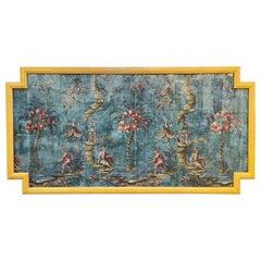 18th Century Italian Chinoiserie Scene Painted Panel