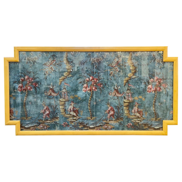 18th Century Italian Chinoiserie Scene Painted Panel For Sale