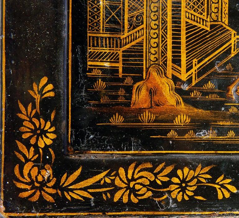 18th Century Italian Chinoiserie Lacquer Bureau Bookcase For Sale 6