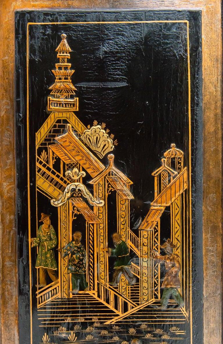 18th Century Italian Chinoiserie Lacquer Bureau Bookcase For Sale 3