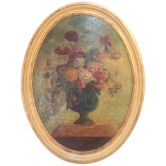 18th Century, Italian Floral Oil on Canvas