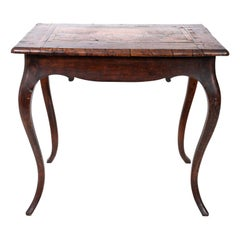 18th Century Italian Fruitwood Rococo Table
