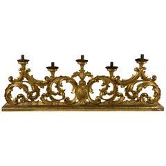 18th Century Italian Gilded Carved Candelabra