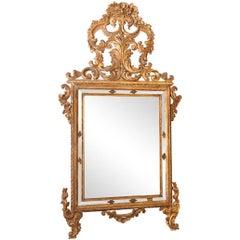 18th Century Italian Gilt Rococo Mirror