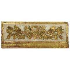 18th Century Italian Giltwood Baroque Panel