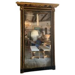 18th Century Italian Gold Gilt Frame with Split Plate Glass Mirror