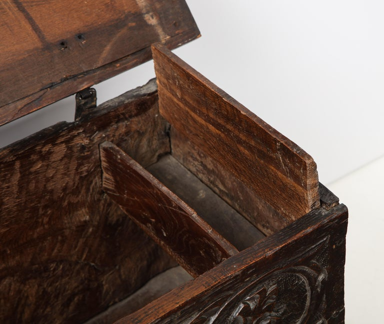 18th Century Italian Jacobean Coffer For Sale 6