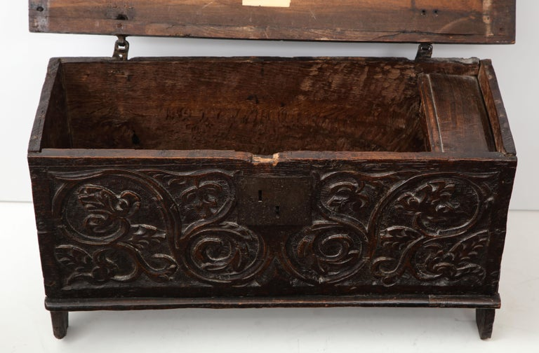 Hand-Carved 18th Century Italian Jacobean Coffer For Sale