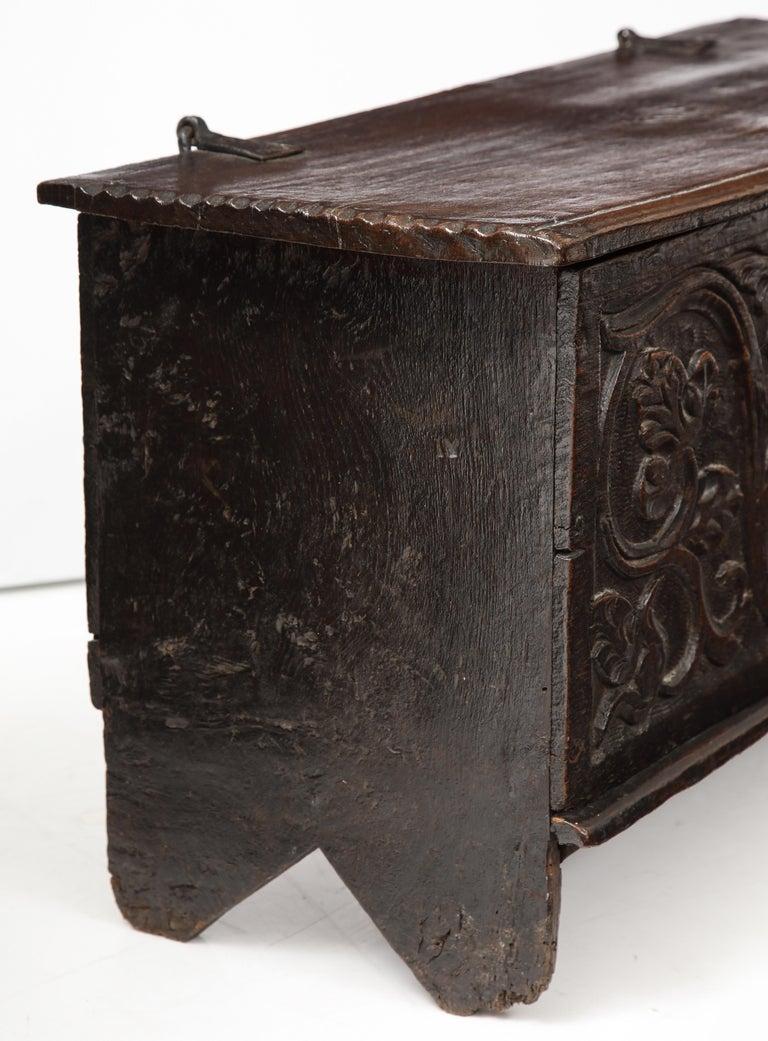 Cherry 18th Century Italian Jacobean Coffer For Sale