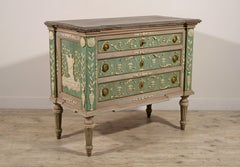 18th century, Italian Lacquered Wood Chest of Drawers