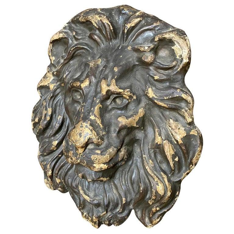 18th Century Italian Lion Head For Sale