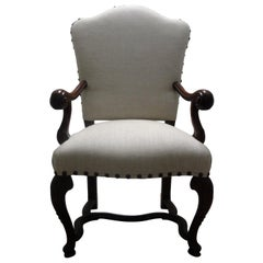 18th Century Italian Louis XIV Walnut Chair