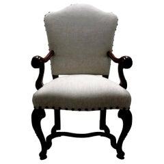 18th Century Italian Louis XIV Walnut Chair