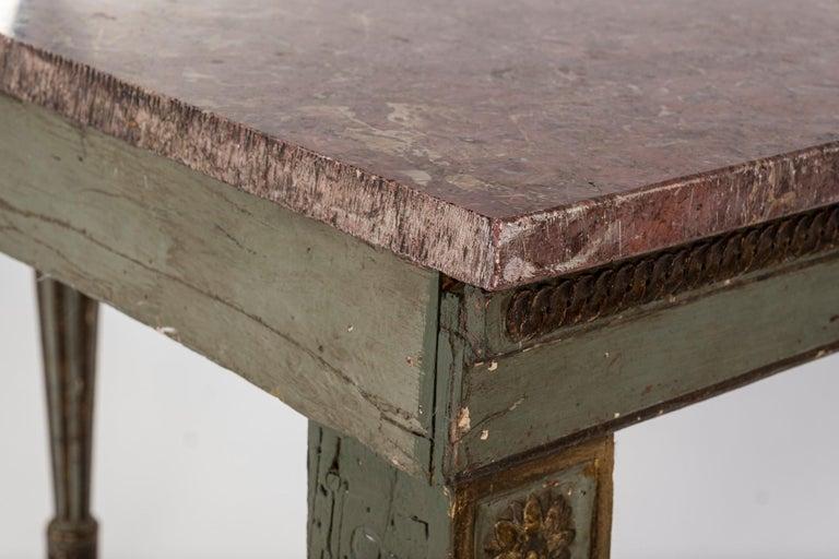 18th Century Italian Louis XVI Console Table For Sale 5