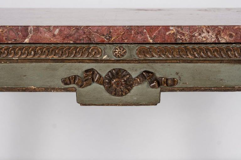18th Century Italian Louis XVI Console Table In Good Condition For Sale In Houston, TX