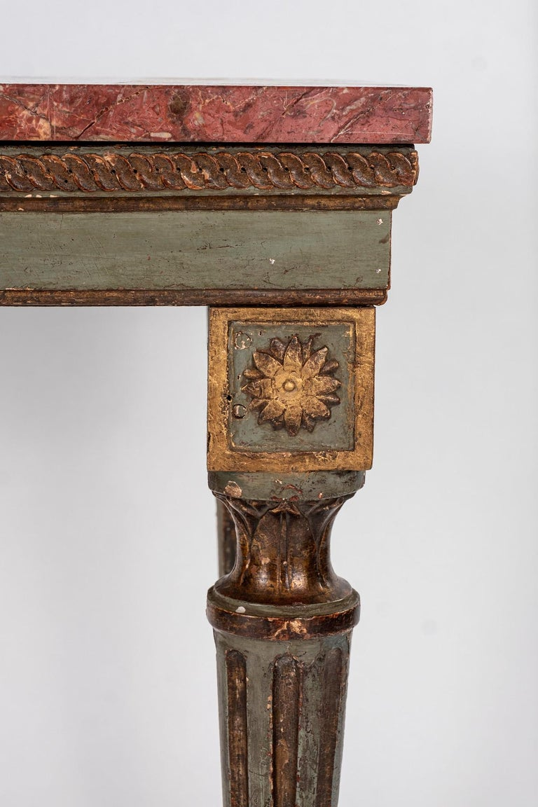 18th Century and Earlier 18th Century Italian Louis XVI Console Table For Sale