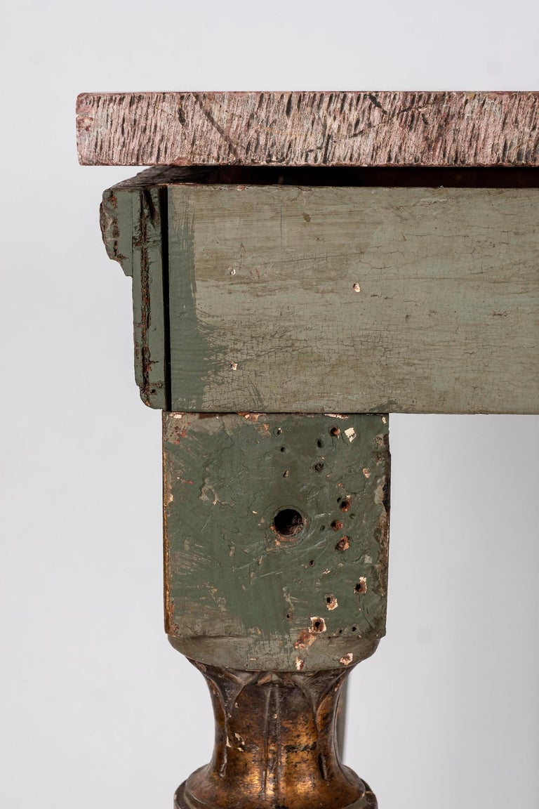 18th Century Italian Louis XVI Console Table For Sale 4