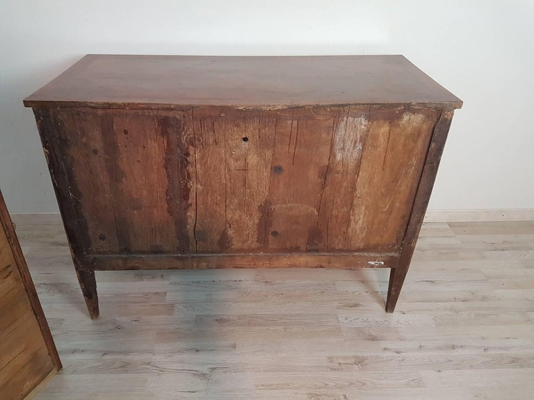 18th Century Italian Louis XVI Inlay Wood Chest of Drawers For Sale 11