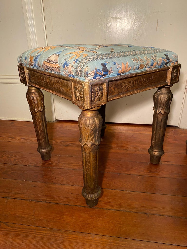 18th Century Italian Louis XVI Tabouret In Fair Condition For Sale In New Orleans, LA