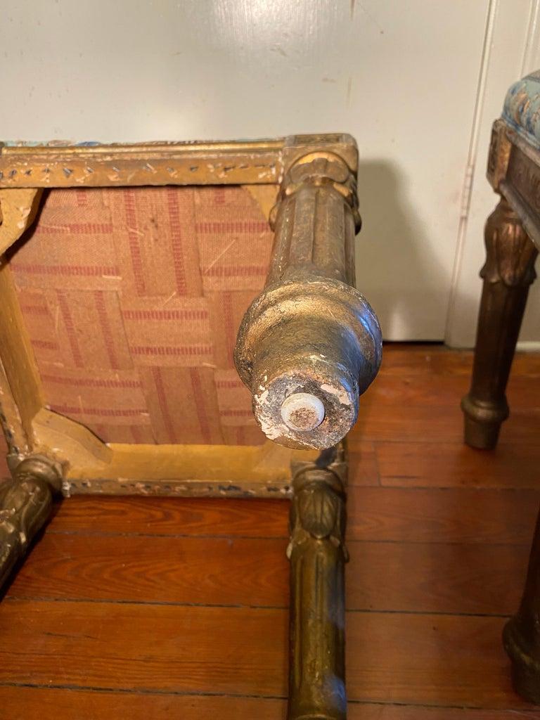 18th Century Italian Louis XVI Tabouret For Sale 1