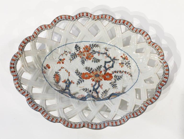 Rococo 18th Century Italian Maiolica Five Dishes, Milano, circa 1770 For Sale