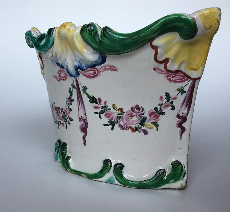 Other 18th Century Italian Maiolica Flower Pot Milano, circa 1770 For Sale