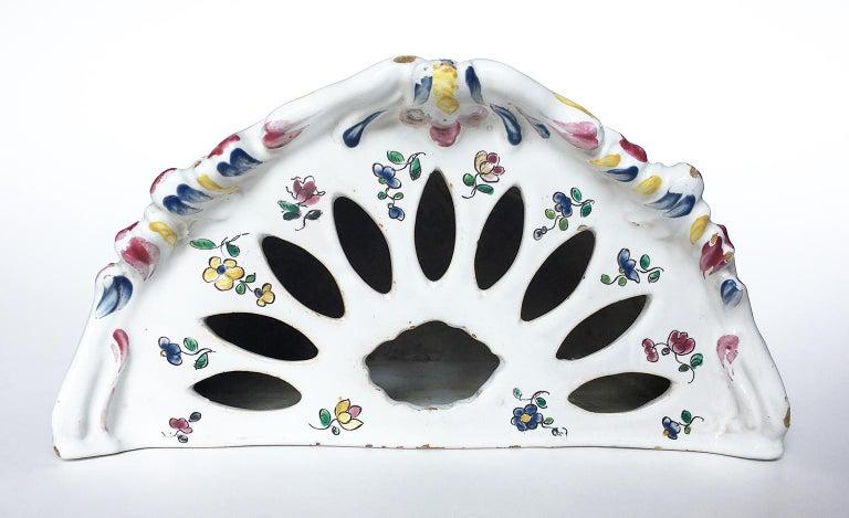 18th Century Italian Maiolica Flower Pot Milano, circa 1770 For Sale 2