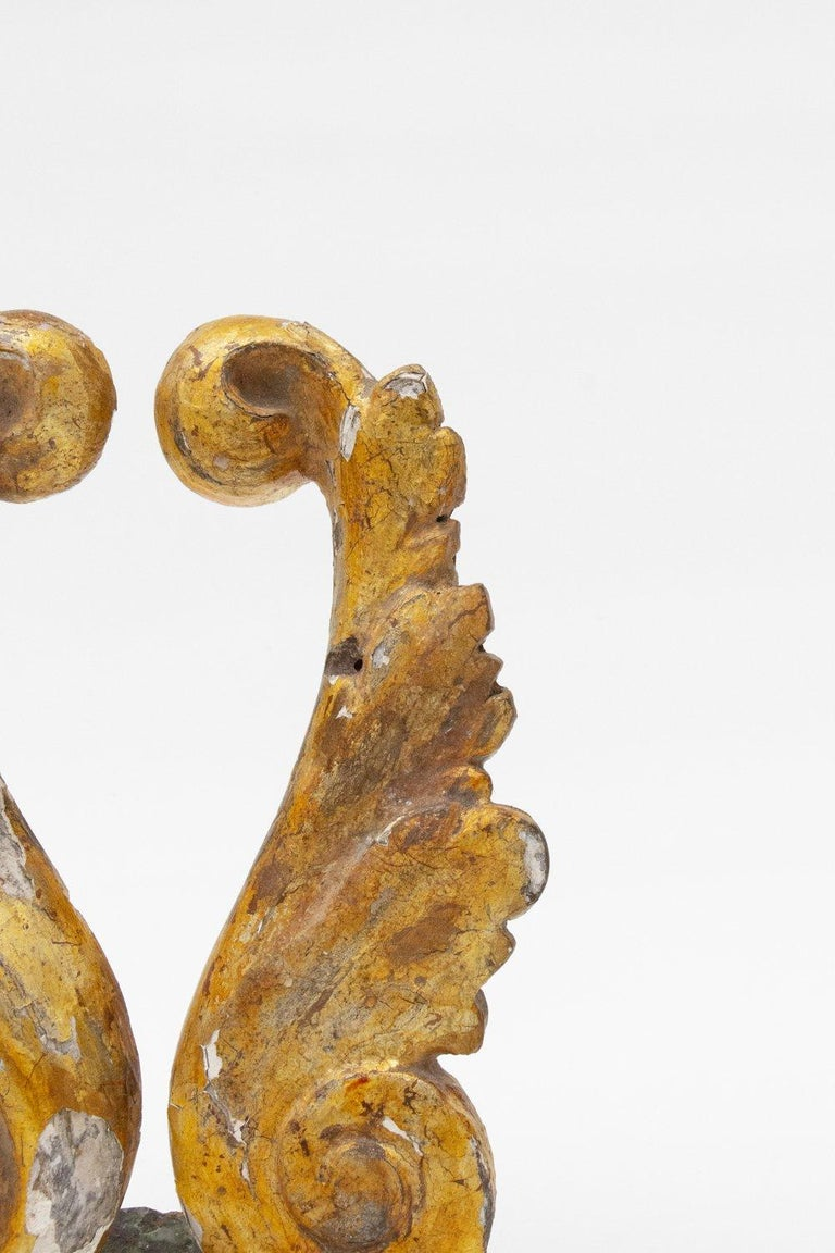 Carved 18th Century Italian Mecca Fragments with a Baroque Pearl on Chalcopyrite For Sale