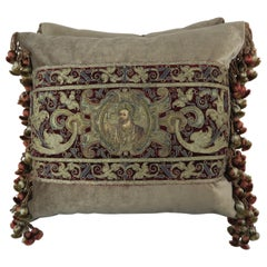 18th Century Italian Metallic Embroidered Apostle Pillows by Melissa Levinson